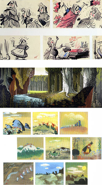 images from the Art of Disney