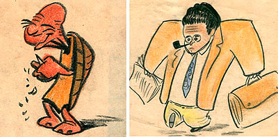Caricatures by Bill Peet