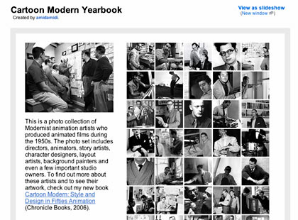 I made another Flickr set: Cartoon Modern Yearbook. It is a photo collection