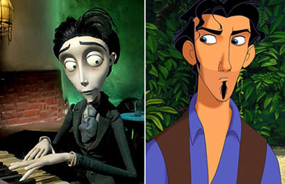 CORPSE BRIDE and EL DORADO comparison