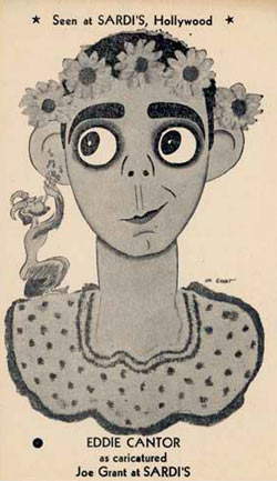 Eddie Cantor by Joe Grant