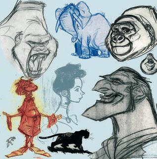 Drawings by Harald Siepermann