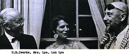 Ub Iwerks and Len Lye