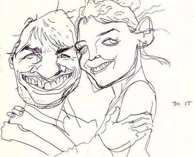 Katie & Tom by John Kricfalusi