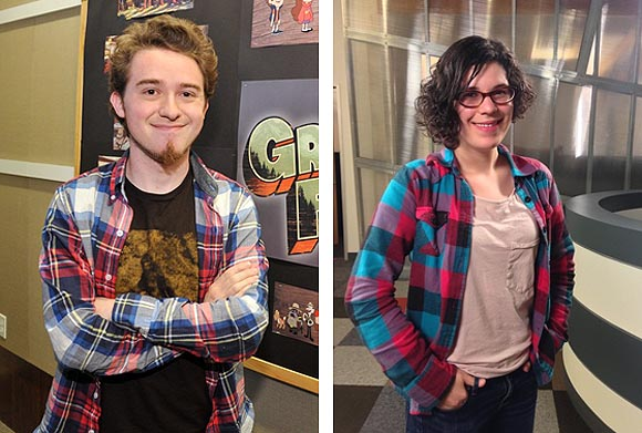 Alex Hirsch and Rebecca Sugar