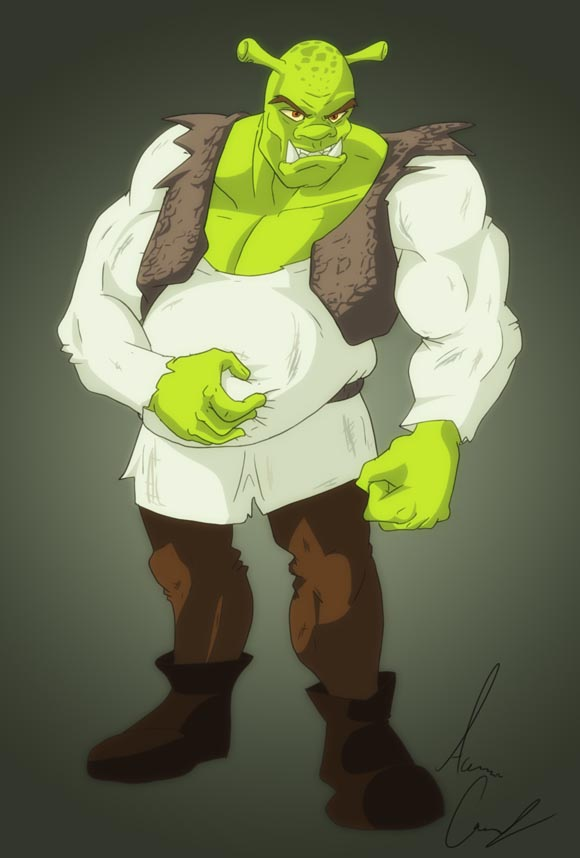 Shrek Fighter by Aaron Cowdery