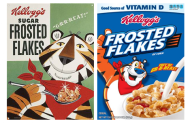 Frosted Flakes boxes