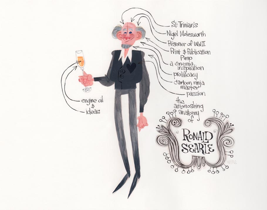 """The Astonishing Anatomy of Ronald Searle"" by Willie Real"