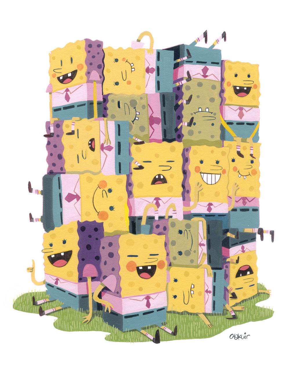 nucleus_oliverakuin_sponges_gouache