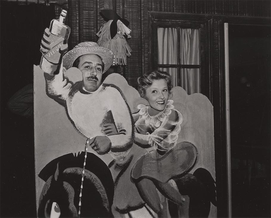 Walt Disney and unidentified woman