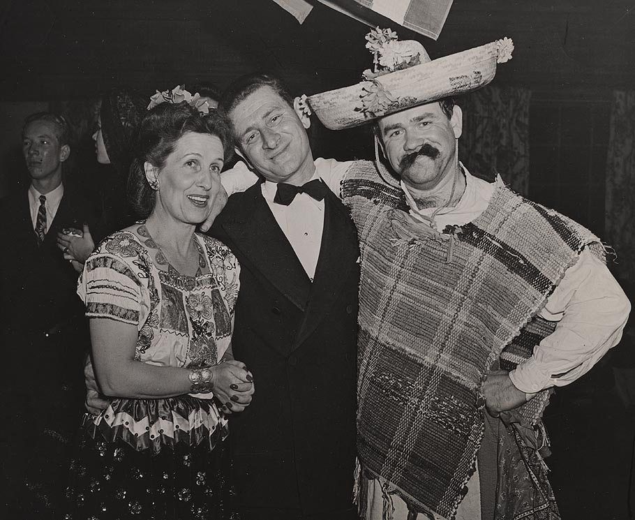 Lillian Disney, James Bodrero and Ward Kimball