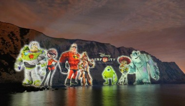 Disney Characters on White Cliffs of Dover