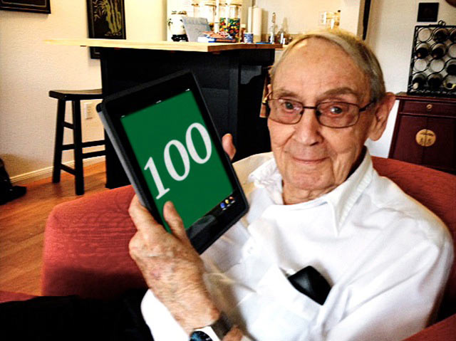 Don acknowledges his centennial in a modern way.