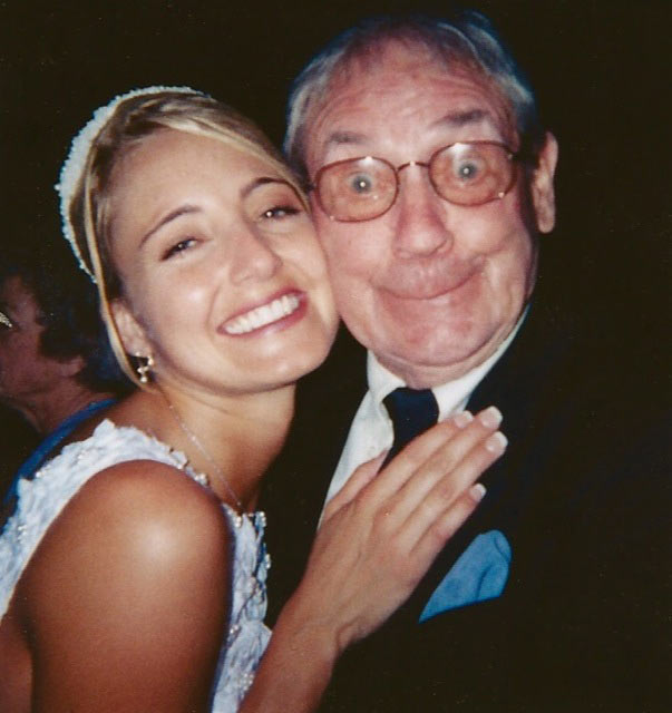 Don at his granddaughter's wedding, 2000.