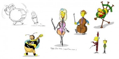 "Simpsons Couch Gag ""Music Ville"""