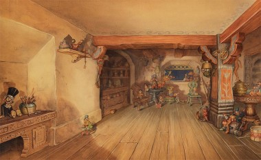 Background concept painting from Pinocchio.