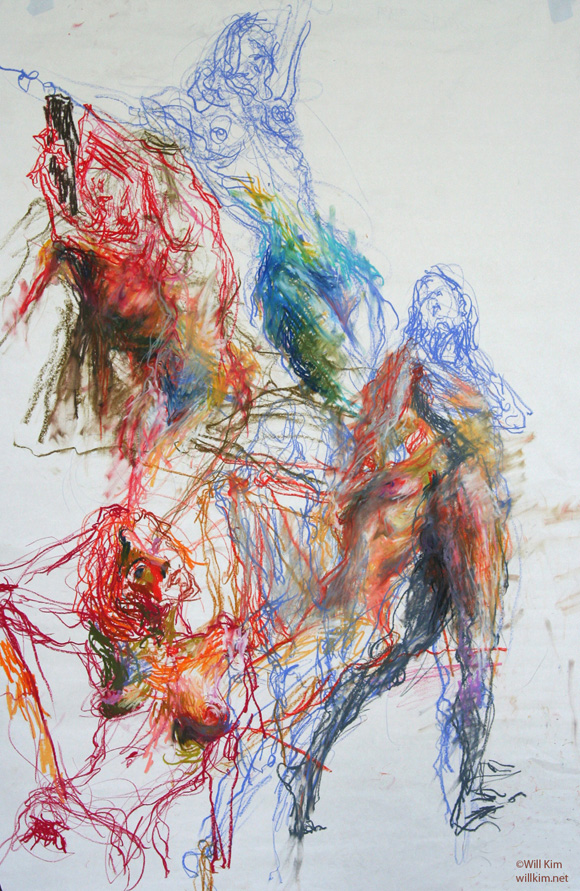 Drawing Lines With Oil Paint : Artist of the day will kim