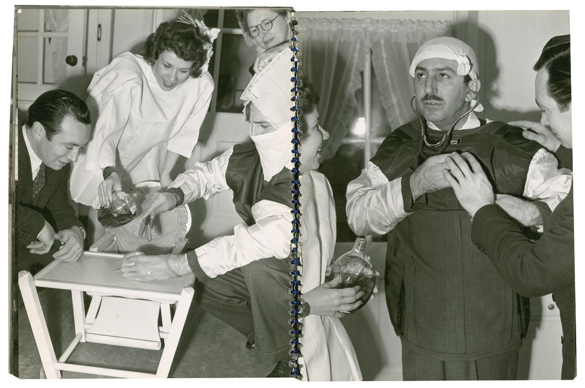 Walt Disney performs an appendectomy