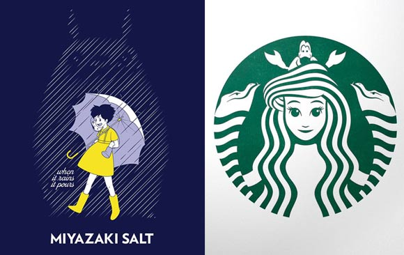 10 famous logos re imagined with animated characters by