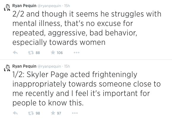 Skyler page sexual harassment