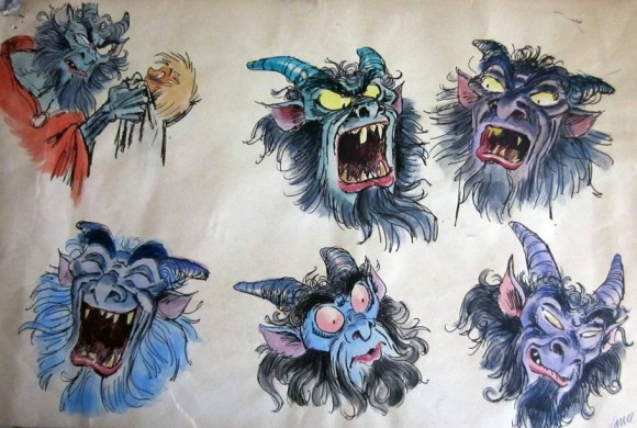 "Early ""Black Cauldron"" concepts by Vance Gerry."