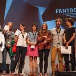 Fantoche 2014 festival winners, from left to right: MIrai Mizue, Dictynna Hood, Anna Benner, Olesya Shchukina, Joana Locher, Mauro Carraro, Mathieu Epiney, Nils Hedinger (click to enlarge).