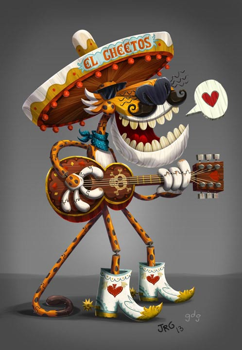 chester cheetah redesigned for book of life themed spot updated