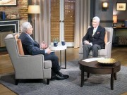 John Canemaker (right) with TCM host Robert Osborne.