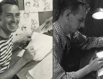"Don Lusk (left) working on ""Pinocchio"" and Willis Pyle animated on a UPA industrial film ca. mid-1940s."