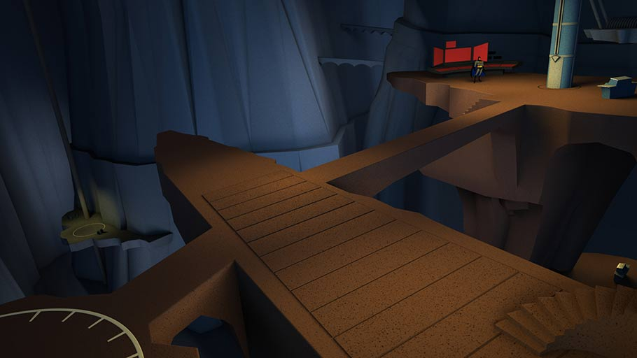 First look at VR Batcave. (Click to enlarge.)