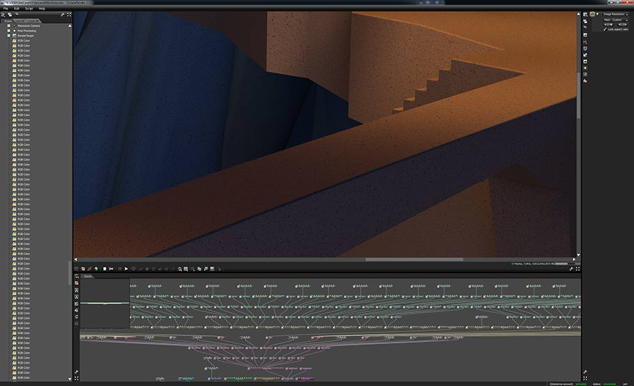 """Batman: The Animated Series"" ORBX holographic video scene construction in OTOY's OctaneRender."