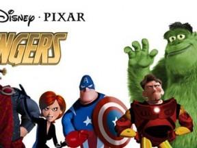 Pixar-Marvel mashup illustration by J.M. Walter.