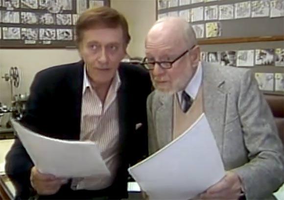 Barrie Ingham (left) voiced Basil, and Val Bettin voiced  Dr. Dawson.