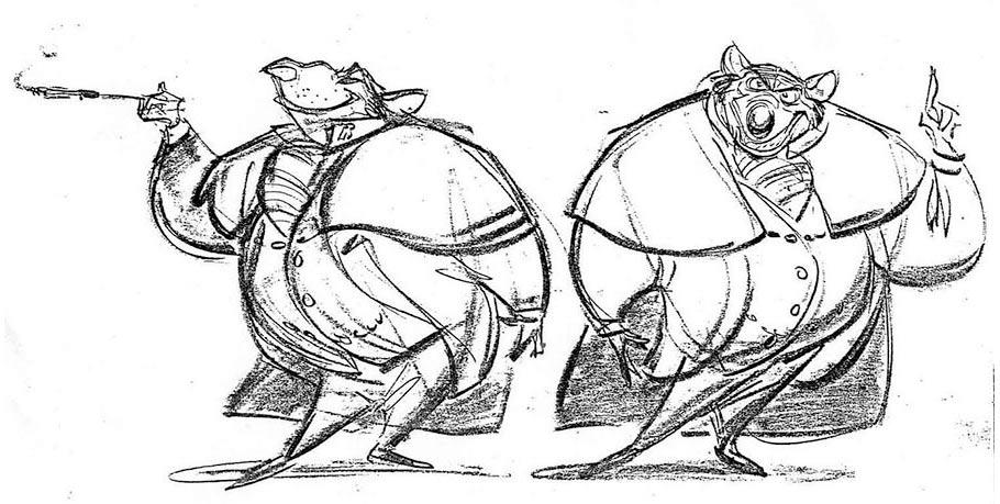 Ratigan concept drawings by Glen Keane.
