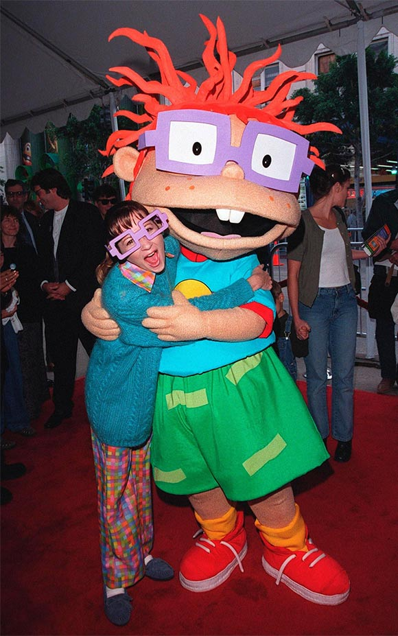 "Christine Cavanaugh and Chuckie at the premiere of ""The Rugrats Movie,"" November 1998. (Photo: Featureflash /Shutterstock.com"