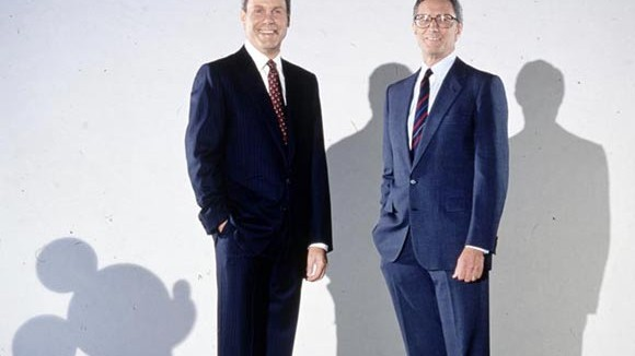Michael Eisner and Frank Well in September 1984.