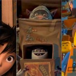 """From left to right: """"Big Hero 6,"""" """"The Boxtrolls,"""" """"The LEGO Movie."""""""
