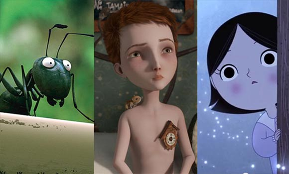 "From left to right: ""Minuscule,"" ""Jack and The Cuckoo-Clock Heart,"" ""Song of the Sea."""