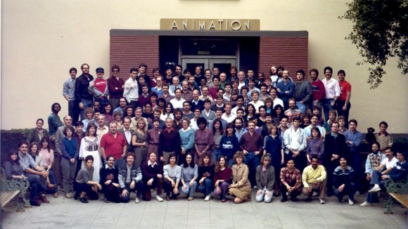 "The crew of ""The Black Cauldron,"" the last Disney film made in the legendary animation building before the artists were moved to a warehouse in Glendale."