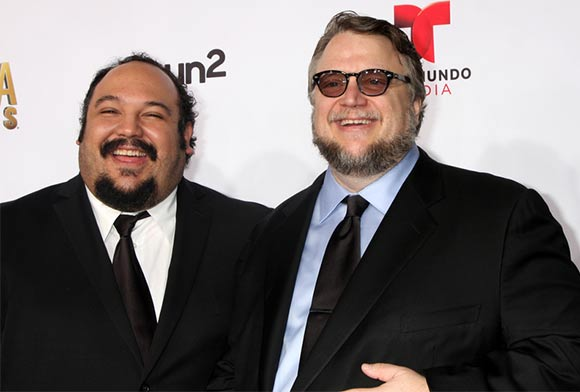 "Jorge Gutierrez (left) with ""Book of Life"" producer Guillermo del Toro a the American Latino Media Arts Award, October 2014. (Photo by Helga Esteb/Shutterstock.)"