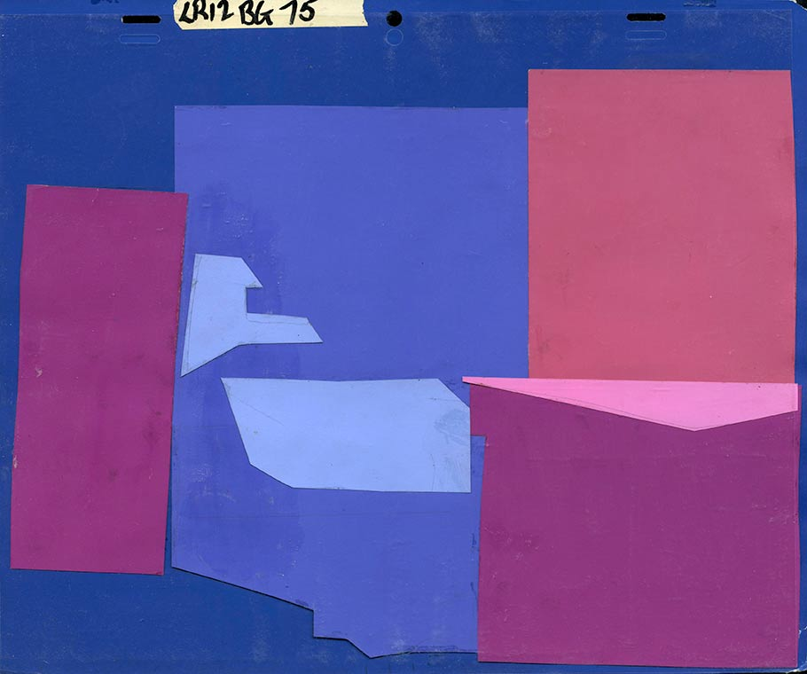 "Construction paper level of the same background painting from ""The Lone Ranger."" Click to enlarge. (Courtesy of Van Eaton Galleries.)"