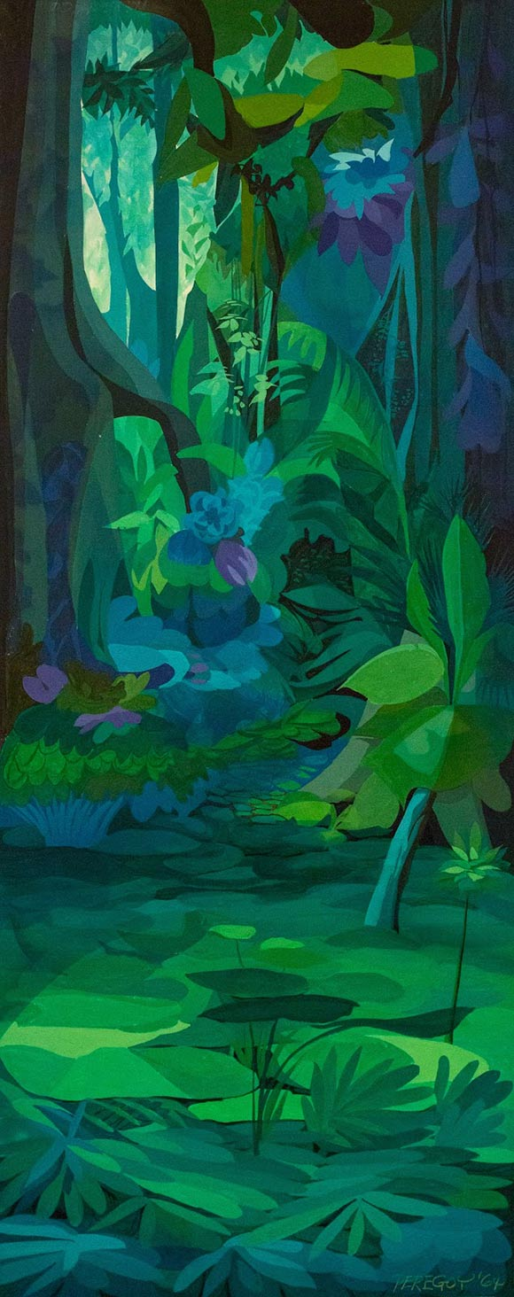 """The Jungle Book"" (1967) concept painting. (via Andreas Deja.)"