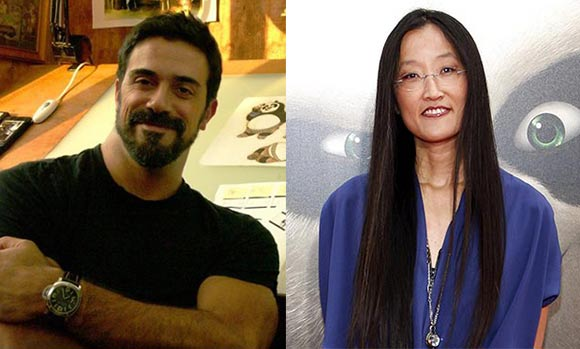 Alessandro Carloni and Jennifer Yuh. (Yuh photo:  Tinseltown/Shutterstock.com)