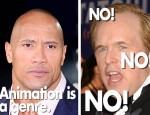 "Dwayne ""The Rock"" Johnson and Brad Bird. (Photos: Shutterstock.com)"