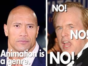 "Dwayne ""The Rock"" Johnson and Brad Bird. (Photos: Shutterstock.com)"