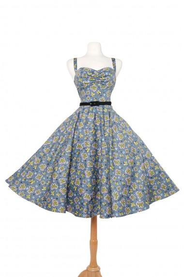 Nancy dress in butterflies print. (Click to enlarge.)