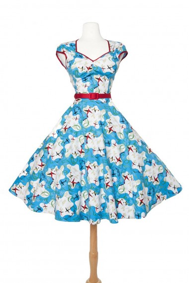 Heidi dress in planes print. (Click to enlarge.)