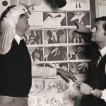 """Richard Williams (right) with Vincent Price during the production of the film that eventually became """"The Thief and The Cobbler."""" (Click to enlarge. Photo via.)"""