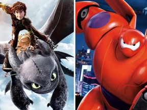 """How to Train Your Dragon 2"" (left) has been replaced by ""Big Hero 6"" as the highest-grossing animated feature of 2014."