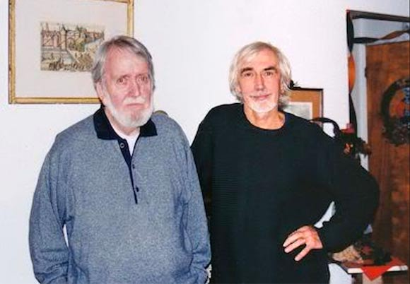 Paul Driessen (right) with his mentor Jim Hiltz in 2001.